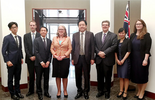 Mr. Zhang Ke met Ms. Jan Adams, Australian Ambassador to China